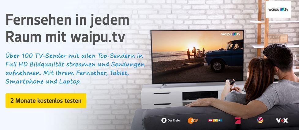 2 Monate waipu.tv für web.de Kunden kostenlos (statt ab ca. 8€)