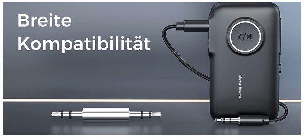 MwAudioNY Bluetooth 5.0 Empfänger mit integriertem Mikrofon für 5,99€ (statt 15€)