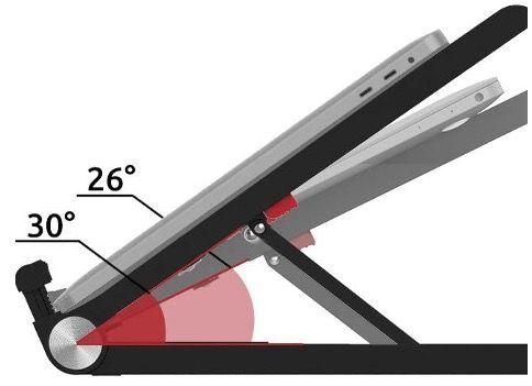 TATE GUARD Notebook Ständer mit verstellbarer Höhe in Schwarz für 10 bis 17,3 Zoll für 7,99€ (statt 16€)