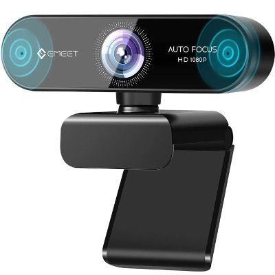 eMeet 1080P Webcam mit 2 Mikrofonen mit Autofokus, Low Light Korrektur für 36,43€ (statt 50€)