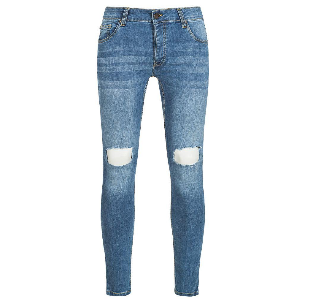 BRAVE SOUL Crofton Stretch Skinny Denim Cut Out Herren Jeans für 13,94€(statt 25€)