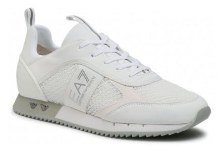 Emporio Armani EA7 Sneaker in Weiß und Blau für 128€ (statt 160€)