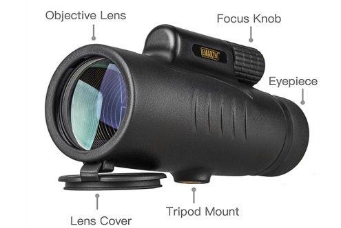 Monokular Teleskope BAK4 8x42 HD wasserdicht mit Handschlaufe und Fokus Zielfernrohr für 26,39€ (statt 44€)