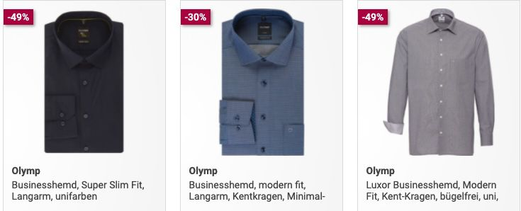 3er Pack Olymp Business Hemden ab 62,97€ (statt 84€)
