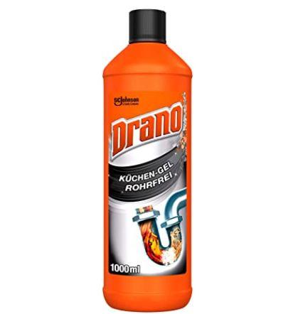 5x 1 Liter Drano (Mr Muscle) Küchen Gel Abflussreiniger für 11€ (statt 14€)   Prime