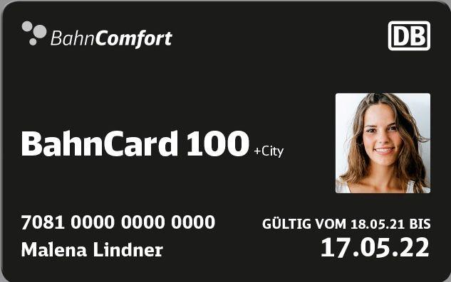 1 Jahr BahnCard 100 (2. Klasse) für junge Leute bis 26 Jahre für 2.399€