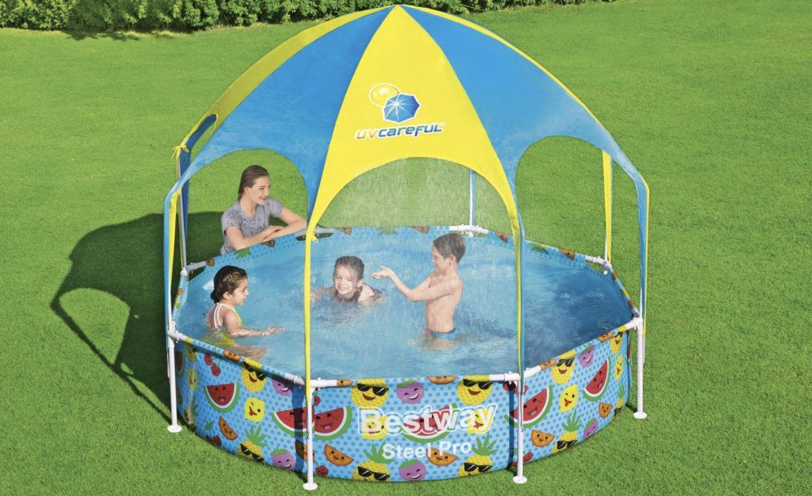 Bestway Kinderpool Splash in Shad 244 x 51 cm für 58,94€(statt 80€)