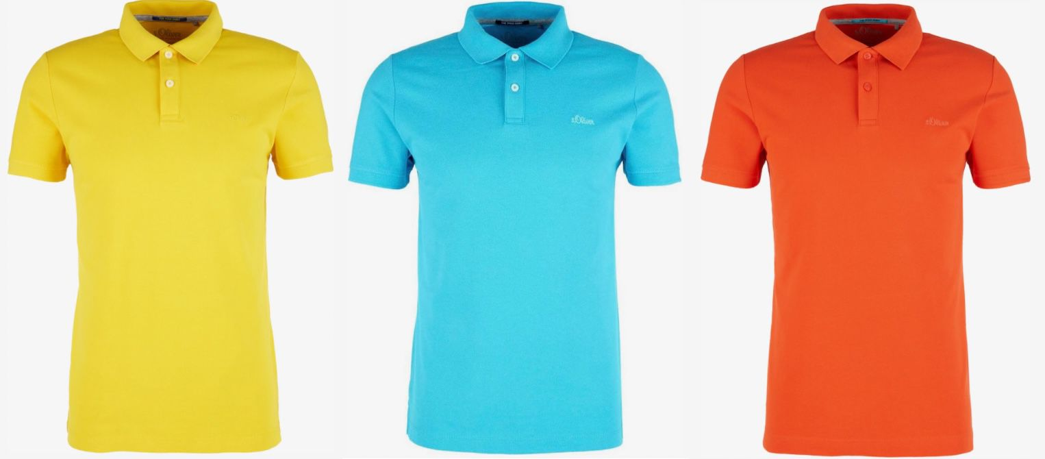 s.Oliver Poloshirts in knalligen Farben für je 7,83€ (statt 20€)
