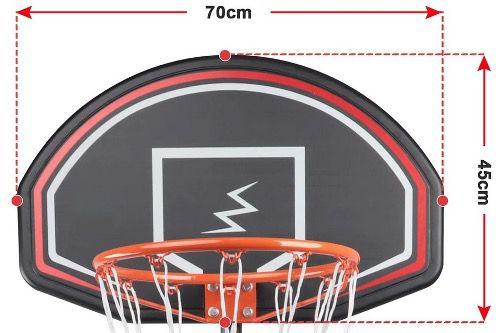 YOLEO Basketballkorb für Kinder 1,6 bis 2,1 Meter höhenverstellbar für Outdoor für 43,79€ (statt 59€)