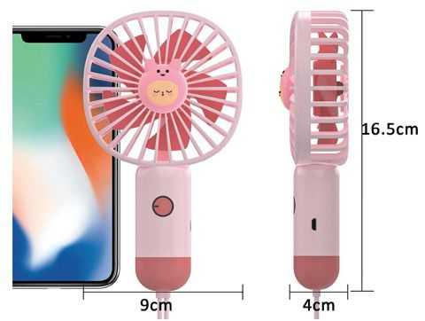 Wurkkos Handventilator mit USB und wiederaufladbar Batterie für 5,99€ (statt 10€)