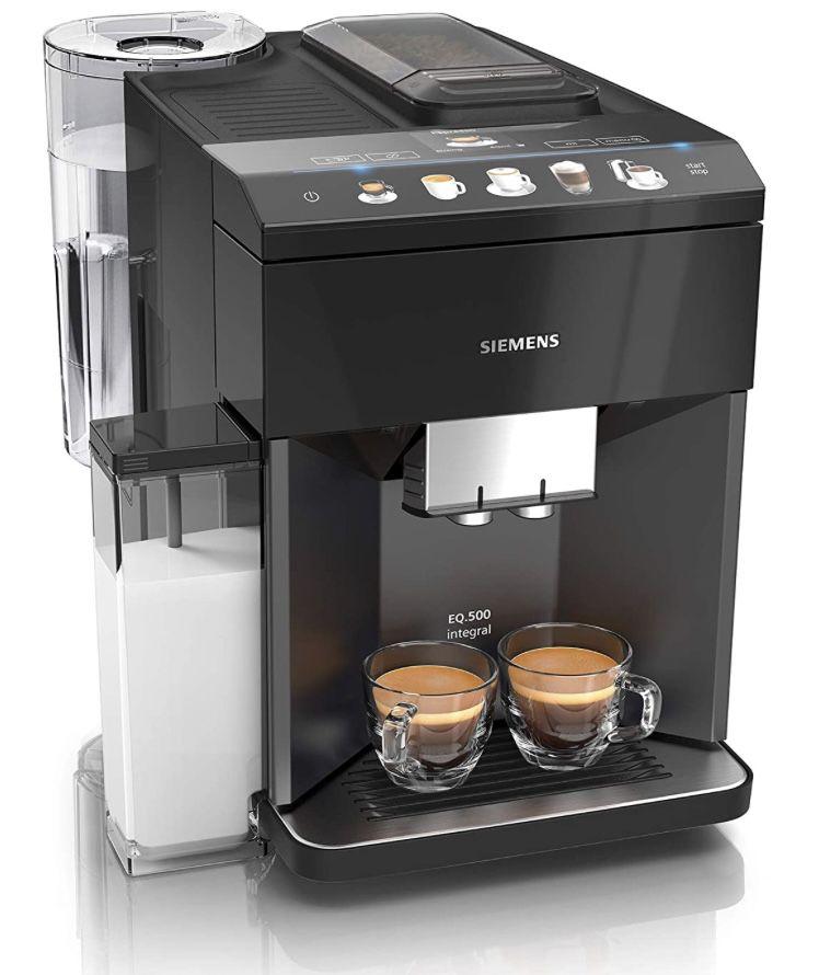 SIEMENS TQ505D09 EQ.500 integral Kaffeevollautomat in Saphirschwarz ab 519€ (statt 549€)