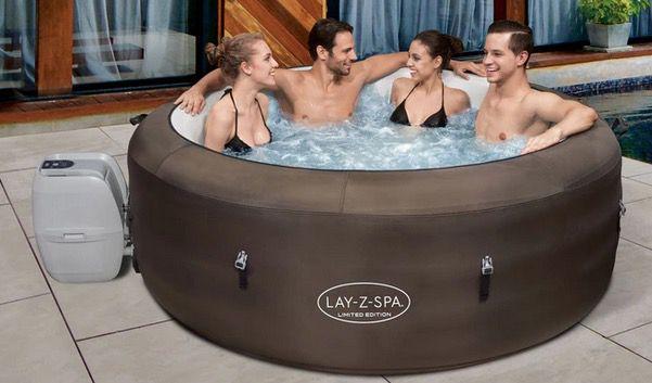 Bestway LAY Z SPA Whirlpool mit Massagefunktion 196x61cm für 599,95€ (statt 719€)