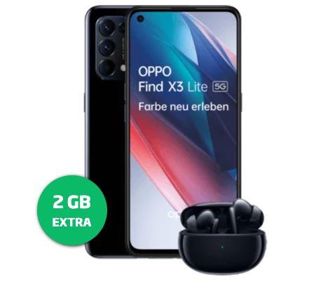 Oppo Find X3 lite 128GB + Oppo Enco Air für 1€ + o2 Allnet-Flat von Blau mit 10GB LTE für 18,99€mtl.