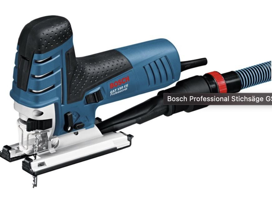 Bosch Professional Stichsäge GST 150 CE ohne Schlauch inkl. Koffer für 119,19€ (statt 139€)