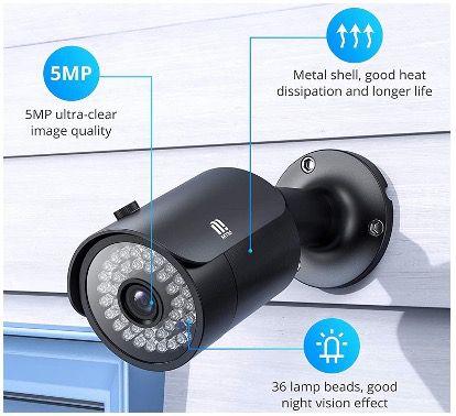 MTM Außen Video Überwachungssystem 8CH 5MP H.265+ mit 4X Outdoor 5MP Überwachungskamera Set für 145,49€ (statt 291€)