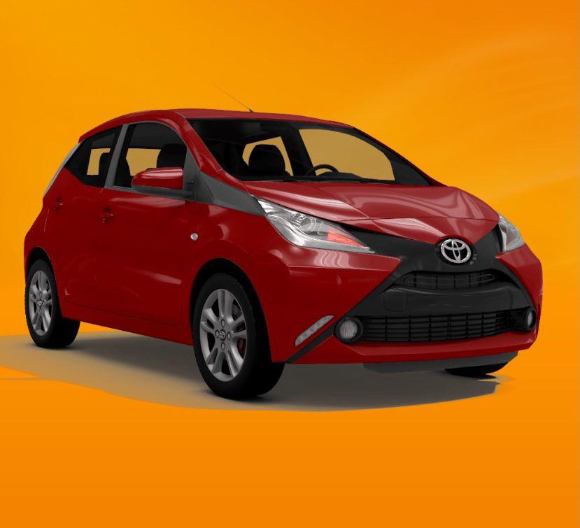 Privat: Toyota Aygo 1.0 mit 72 PS für 88,88€ mtl. – LF: 0.58