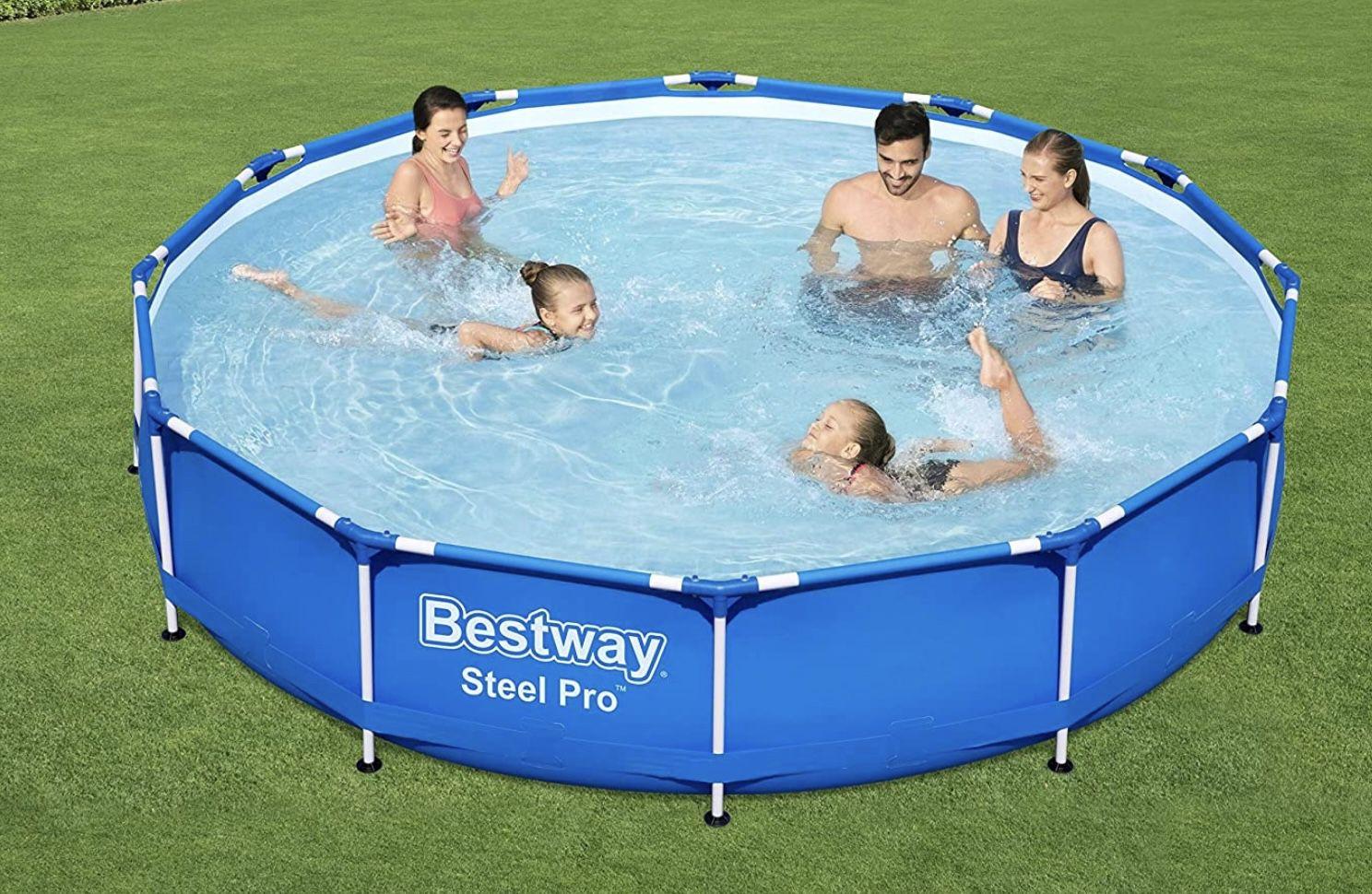 Bestway Steel Pro Frame Pool, 366 x 76 cm, ohne Pumpe für 82,90€ (statt 105€)