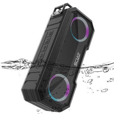 SCIJOY Bluetooth Lautsprecher IPX7 mit LED-Licht 30W und 30h Akku für 29,89€ (statt 46€)