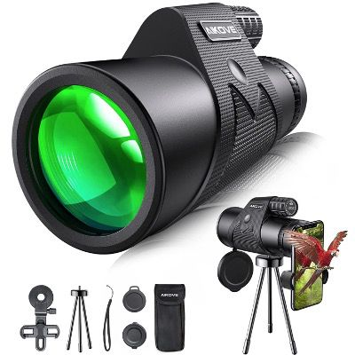Aikove Monokular Starscope 12×50 mit HD-Zoom inkl. Smartphone Halter und Stativ für 21,97€ (statt 40€)