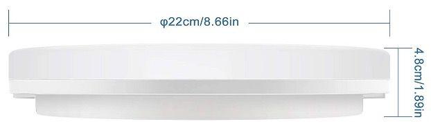 NIXIUKOL 18W Deckenlampe 4500K Neutralweiß IP54 für 13,19€ (statt 24€)