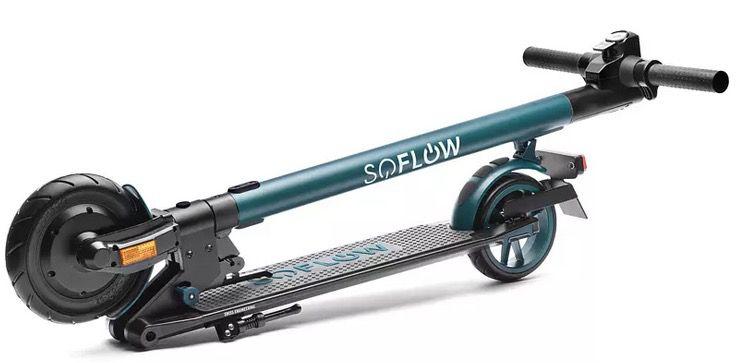 SOFLOW SO1 E Scooter (7,8 Zoll, Schwarz, Grün) mit dt. Straßenzulassung für 239€ (statt 275€)
