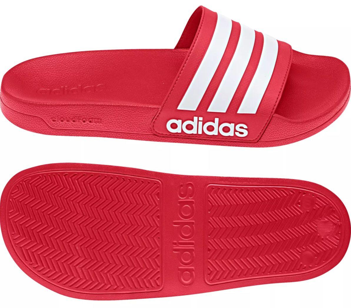adidas Cloudfoam Adilette Slide in Rot für 16,66€ (statt 20€)