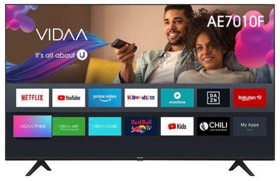 Hisense 58AE7010F   58 Zoll UHD Fernseher für 369€ (statt 429€)