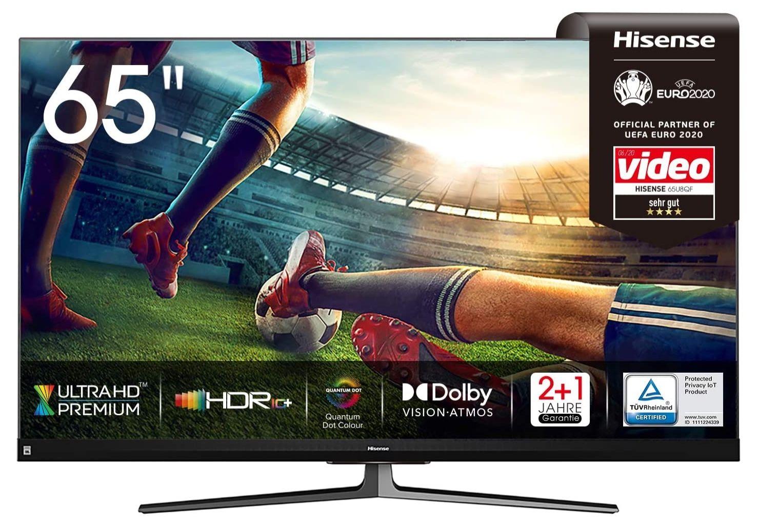 Hisense 65U8QF   65 Zoll QLED UHD Fernseher mit 120 Hz für 849€ (statt 997€)