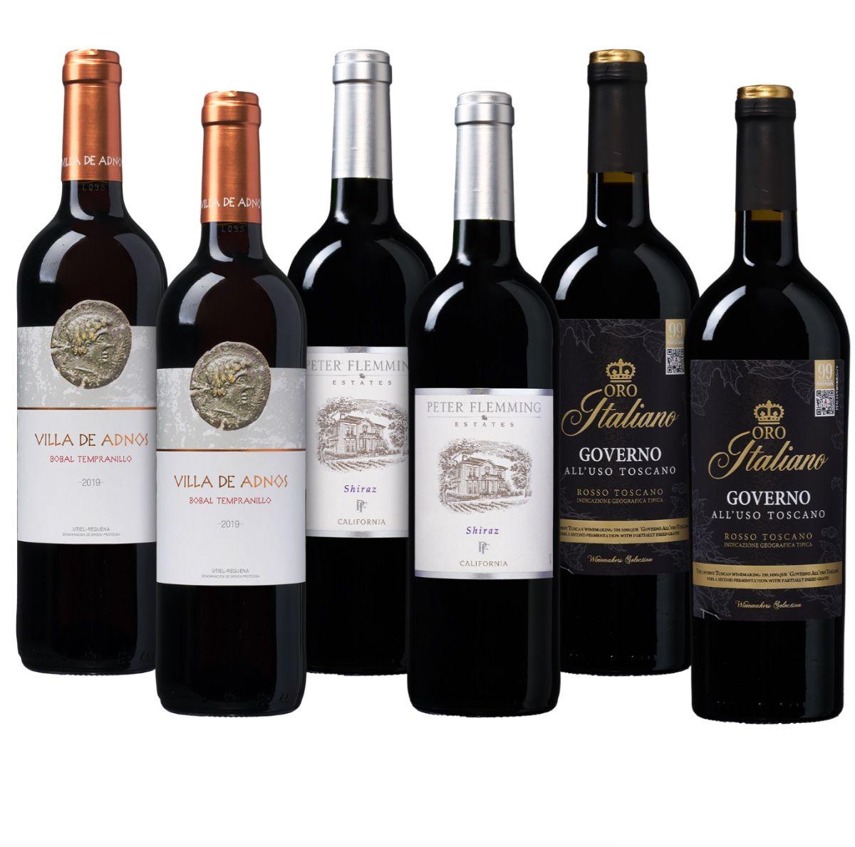 6 Flaschen Rotwein Bestseller-Paket für 37,49€ inkl. Versand