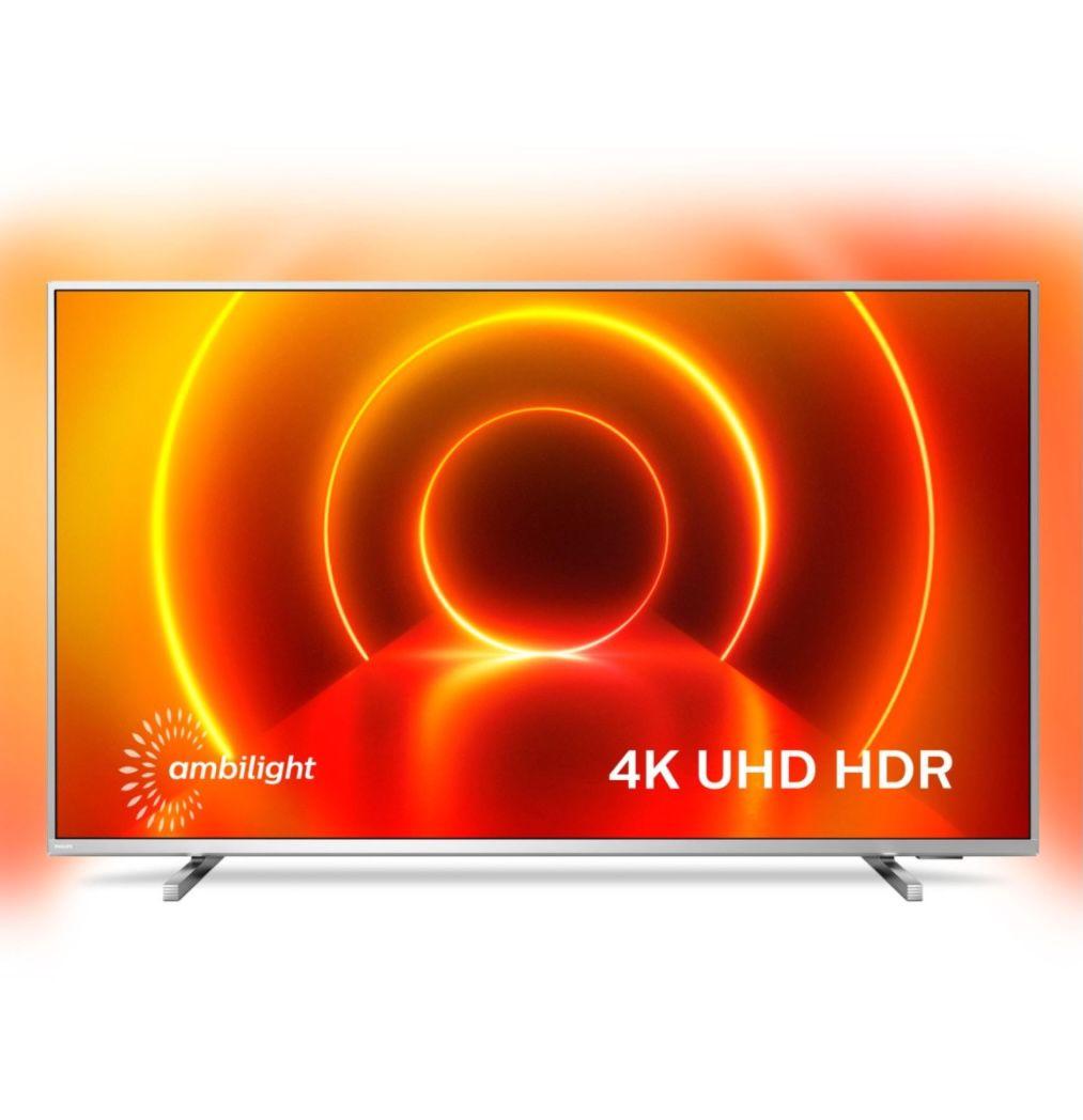 Philips 50PUS8105 – 50 Zoll UHD Fernseher mit 3-seitigem Ambilight für 354,44€ (statt 470€)