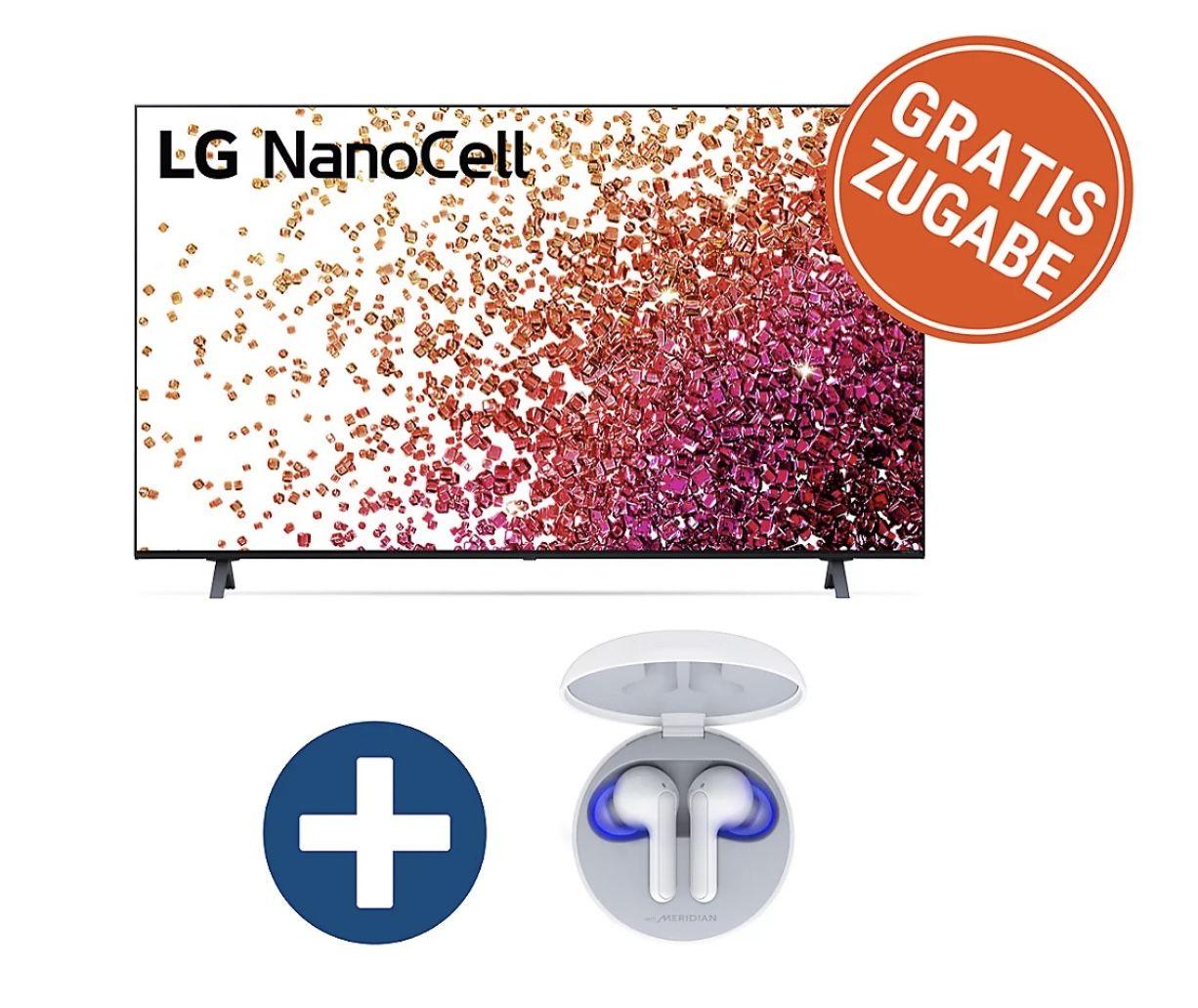 LG 75NANO759PA Fernseher mit 75 inkl. In Ear Kopfhörer FN6 ab 894€ (statt 1099€)