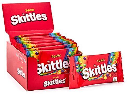 14er Pack Skittles Kaubonbons Fruits für 5,39€   Prime Sparabo