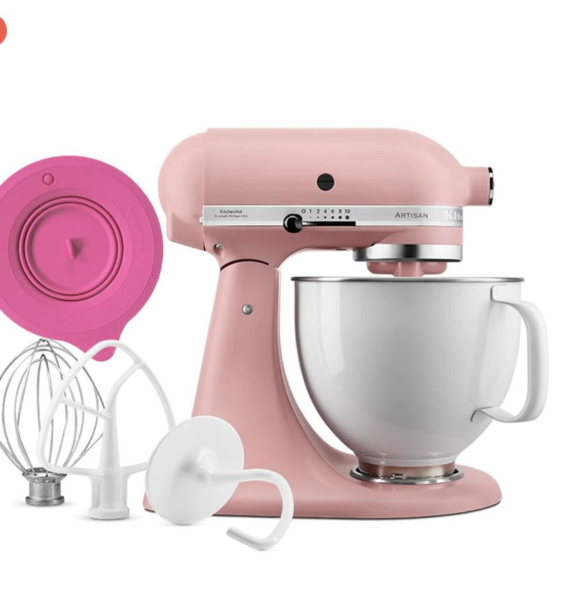 KitchenAid Limited Edition Rose White mit Profi-Frischhaltedeckel für 549€(statt 650€)