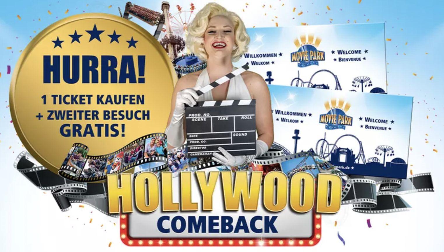 Tagesticket Movie Park für 36,90€ + 2. Besuch GRATIS