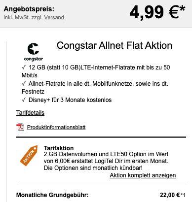 OnePlus Nord 2 5G mit 128GB + Buds für 4,99€ + Telekom Allnet Flat von Congstar mit 10GB LTE für 22€ mtl.