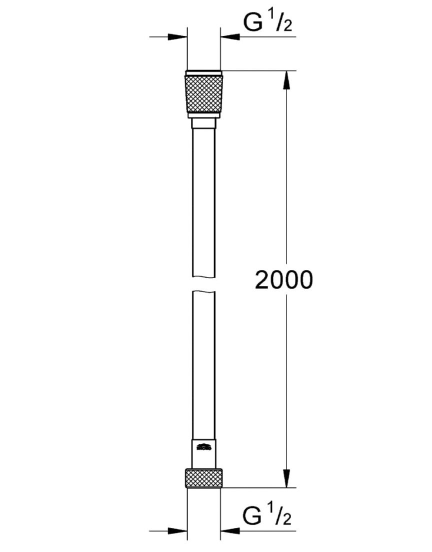 GROHE Silverflex Brauseschlauch für Brausen  und Duschsysteme in Chrom für 9,75€ (statt 22€)   Prime