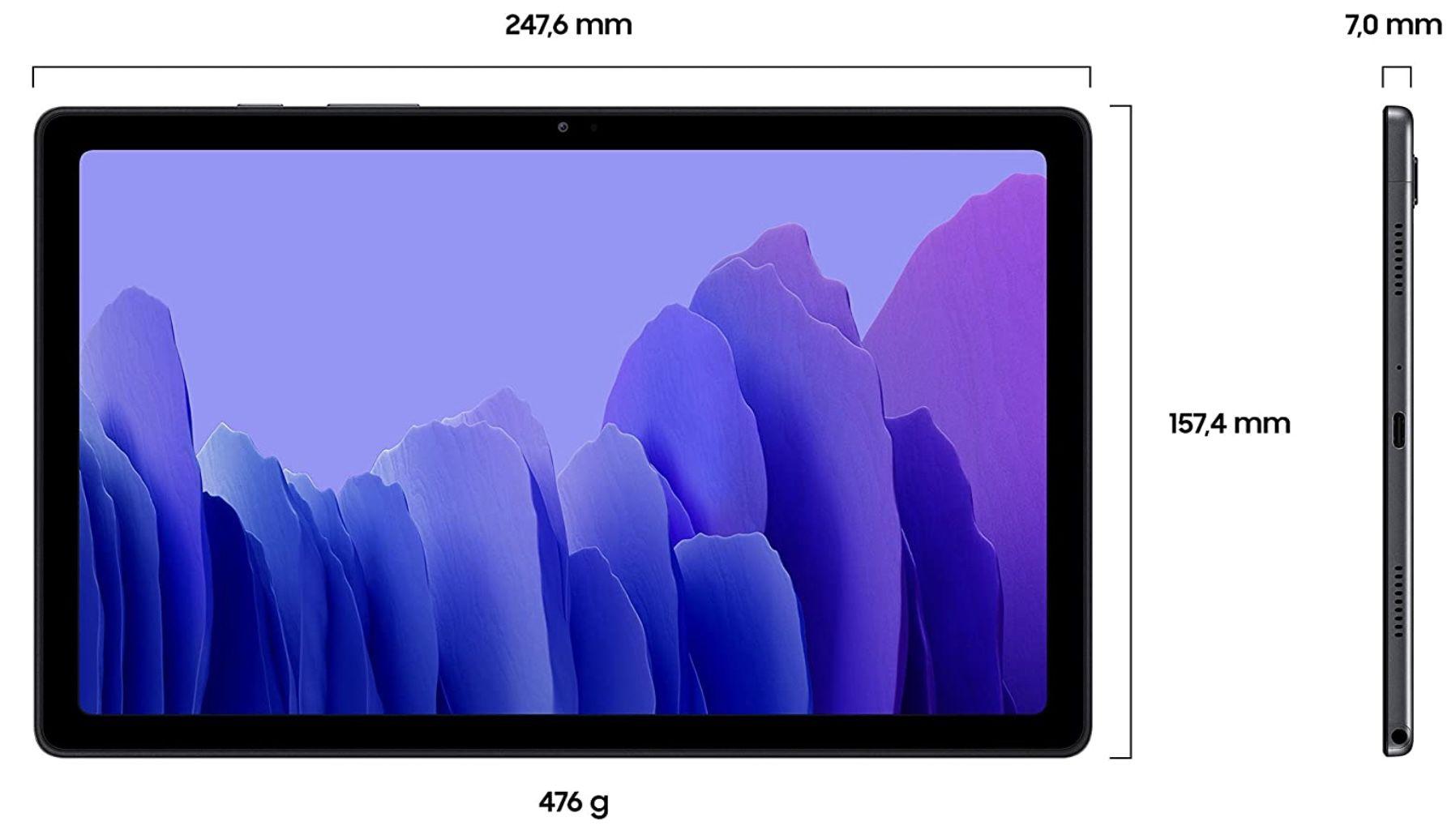 Samsung Galaxy A7 Tablet in Grau mit 7.040 mAh Akku, 10,4 Zoll TFT Display für 135€ (statt 159€)