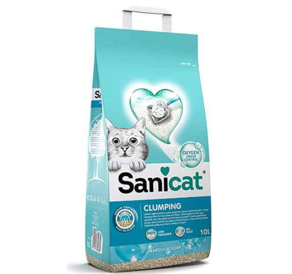 5x 10 Liter Sanicat Clumping+ Marsella Soap Katzenstreu für 27,96€ (statt 40€)