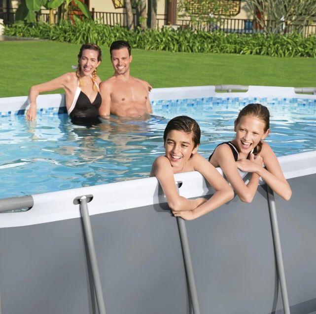 Bestway Power Steel Frame Pool 488 x 305 x 107cm mit Kartuschenfilter für 433,99€(statt 599€)