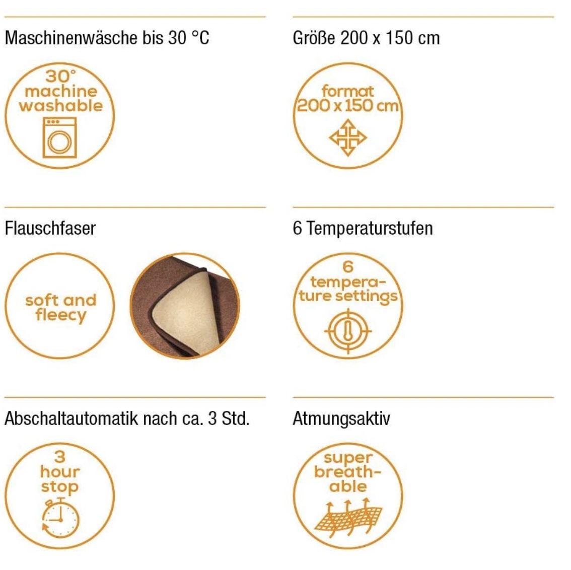 Beurer HD 100 Heizdecke mit Abschaltautomatik und maschinenwaschbar in Braun/Beige für 58€ (statt 83€)