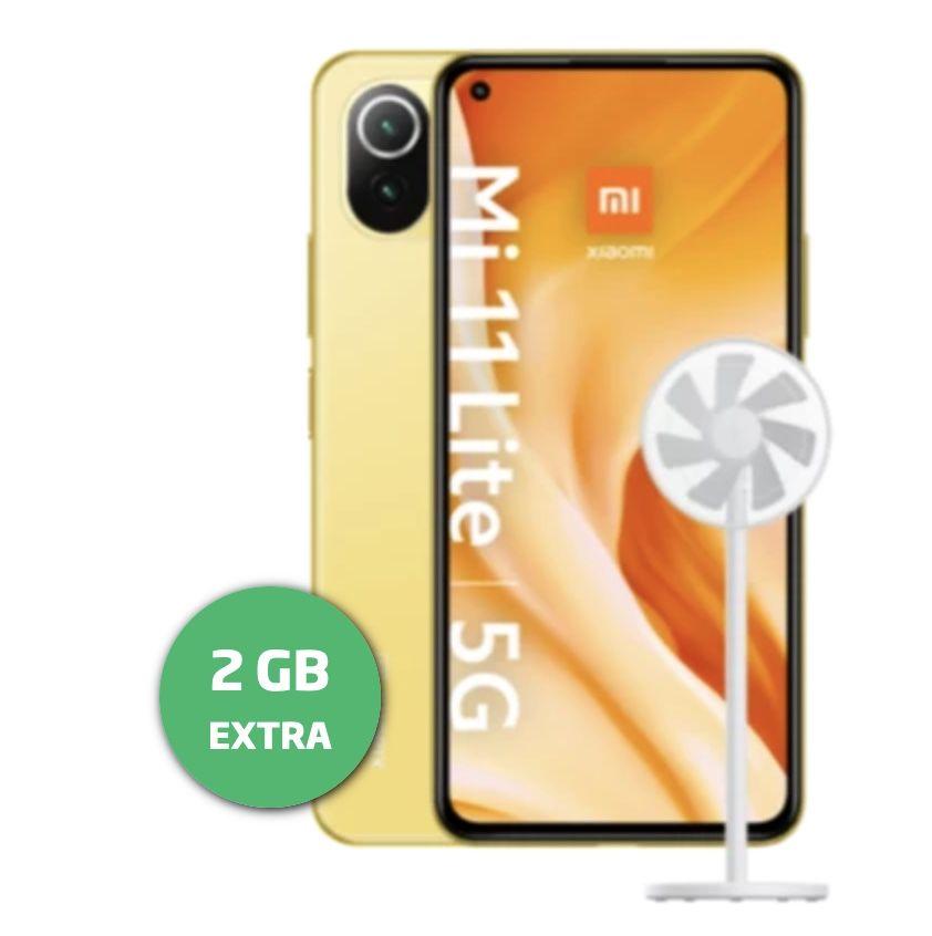 Xiaomi Mi 11 Lite 5G + Mi Smart Fan 2 lite für 1€ + o2 Allnet Flat von Blau mit 10GB LTE für 17,99€mtl.