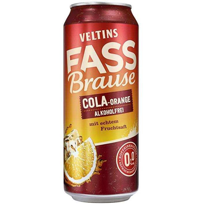 24er Tray Veltins Fassbrause Cola-Orange alkoholfrei Biermischgetränk ab 16€ inkl. 6€ Pfand