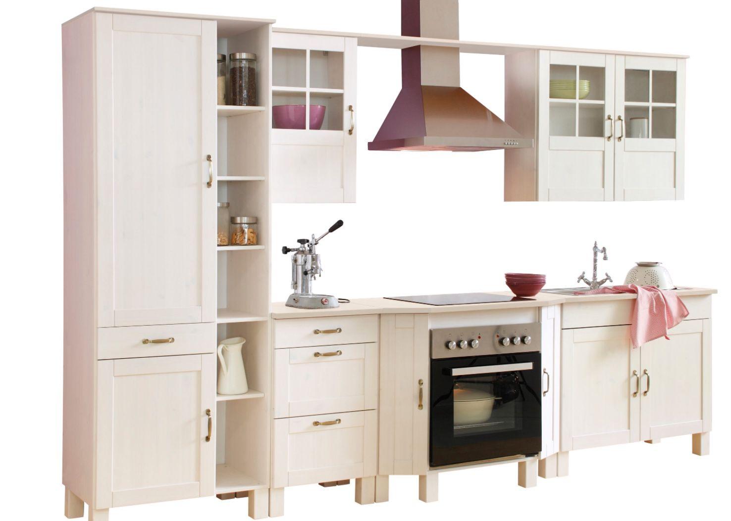 Fehler? Home affaire Küchen Set Alby ohne E Geräte mit 325cm Breite aus massiver Kiefer für 191,94€ (statt 1.799€)