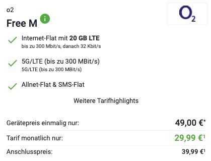 Apple iPhone 12 mini 64GB für 49€ + o2 Allnet Flat mit 20GB LTE/5G für 29,99€ mtl.