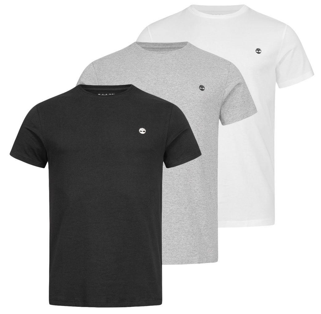 3er Pack Timberland Basic Crew Slim Herren T-Shirts für 31,94€ (statt 46€)