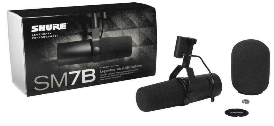 Shure SM7B Dynamisches Mikrofon für Broadcast, Podcast & Recording für 293,46€ (statt 349€)