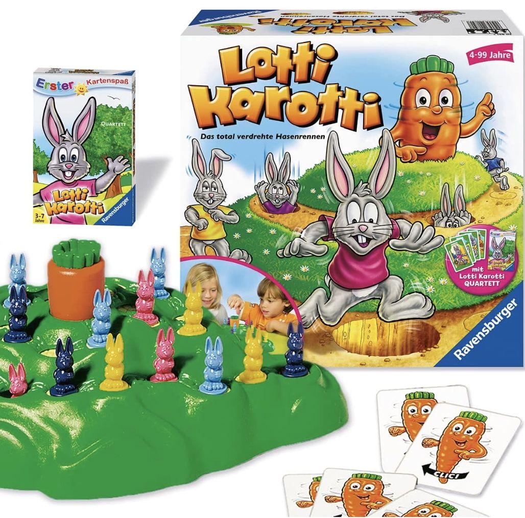 Ravensburger 20851  Lotti Karotti Gesellschaftsspiel + Quartett Kartenspiel für 16,99€ (statt 22€) – Prime