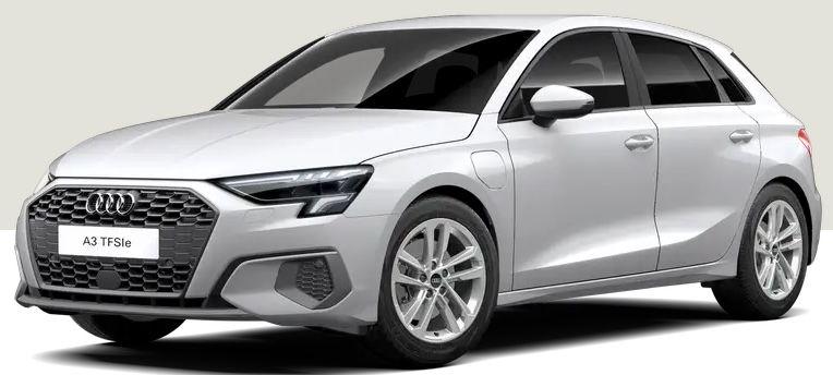Privat (Eroberung): Audi A3 Sportback 40 TFSIe S tronic mit 204 PS in Weiß für 169€ mtl.   LF 0.38