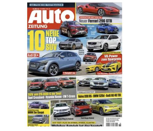 26 Ausgaben Auto Zeitung für 97,50€ + Prämie: 95€ Amazon Gutschein