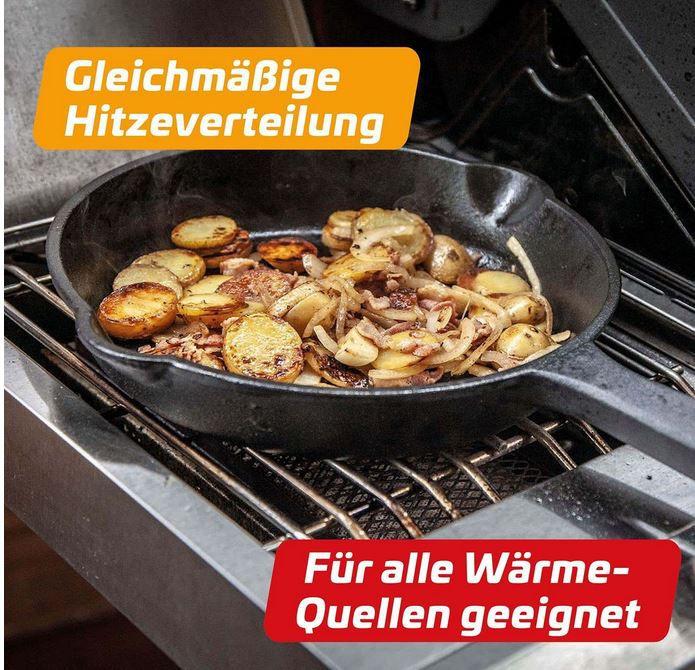 Grillfürst Gusseisen Feuer Pfanne für 24,80€ (statt 30€)